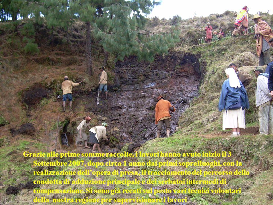 In Grazie alle prime somme raccolte, i lavori hanno avuto inizio il 3 Settembre 2007, dopo circa 1 anno dai primi sopralluoghi, con la realizzazione d