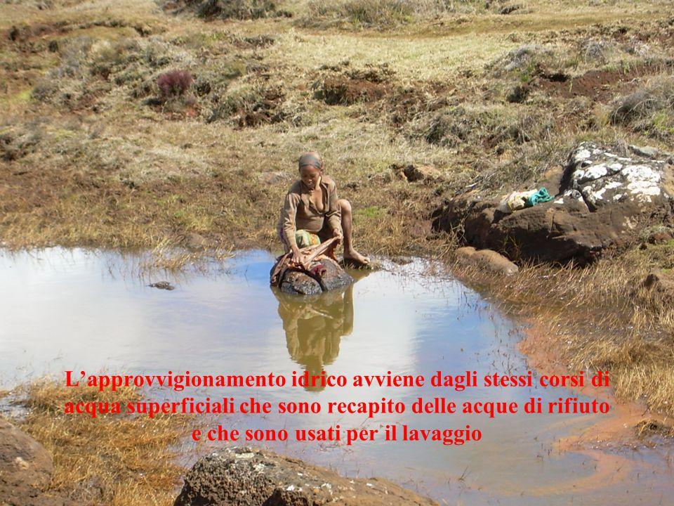 L'approvvigionamento idrico avviene dagli stessi corsi di acqua superficiali che sono recapito delle acque di rifiuto e che sono usati per il lavaggio