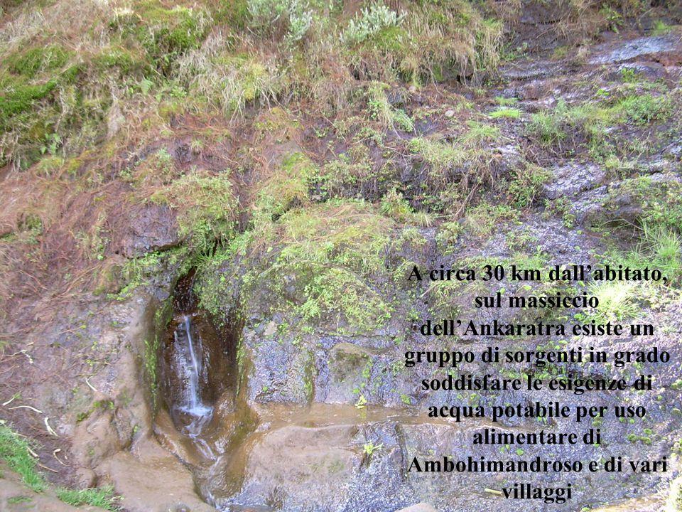 A circa 30 km dall'abitato, sul massiccio dell'Ankaratra esiste un gruppo di sorgenti in grado soddisfare le esigenze di acqua potabile per uso alimen