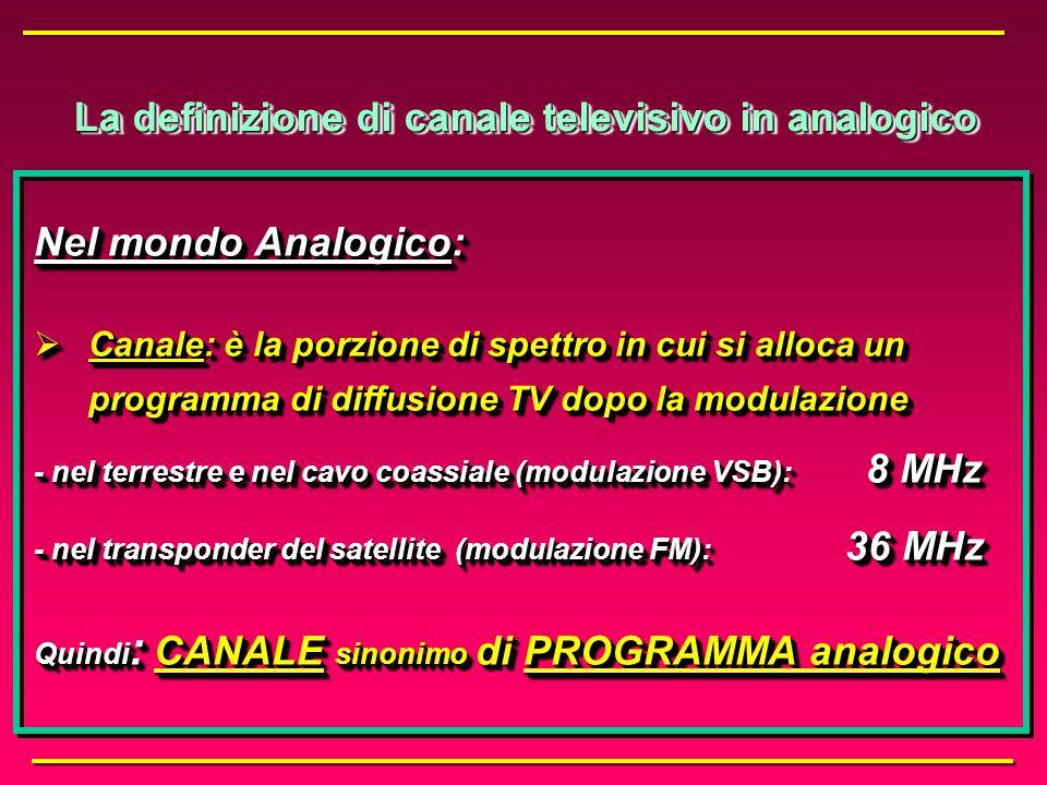 3. Canale e programma nel caso di impieghi audiovisivi