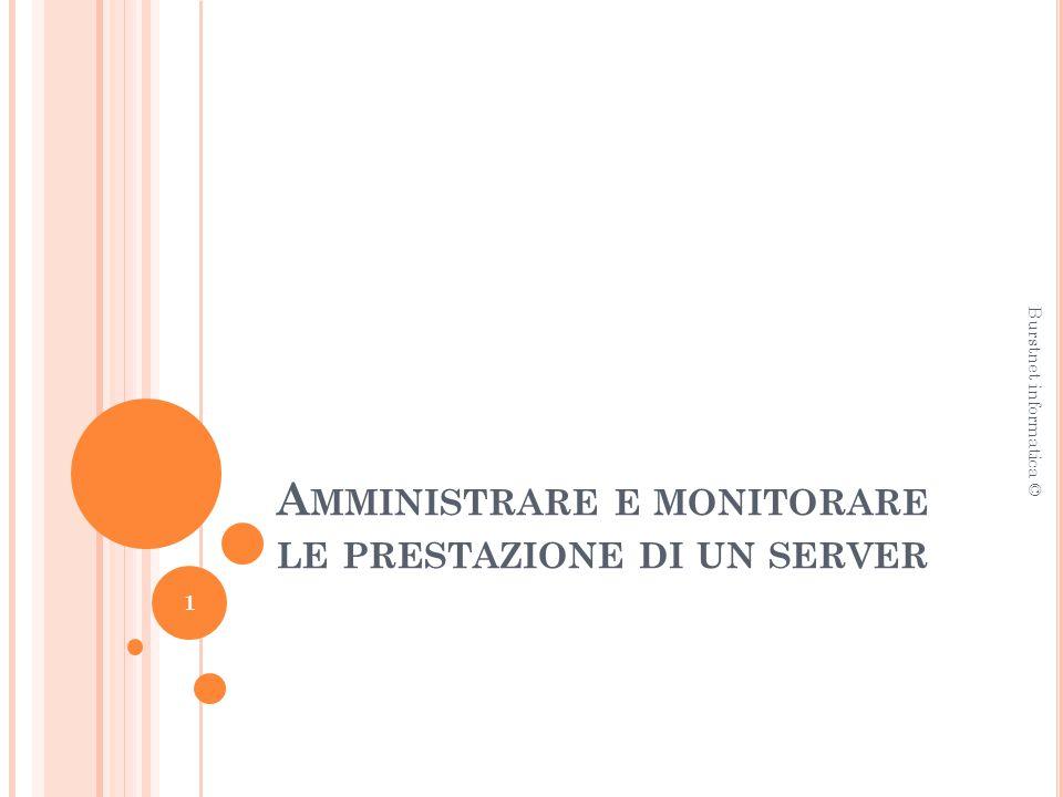 A MMINISTRARE E MONITORARE LE PRESTAZIONE DI UN SERVER Burstnet informatica © 1