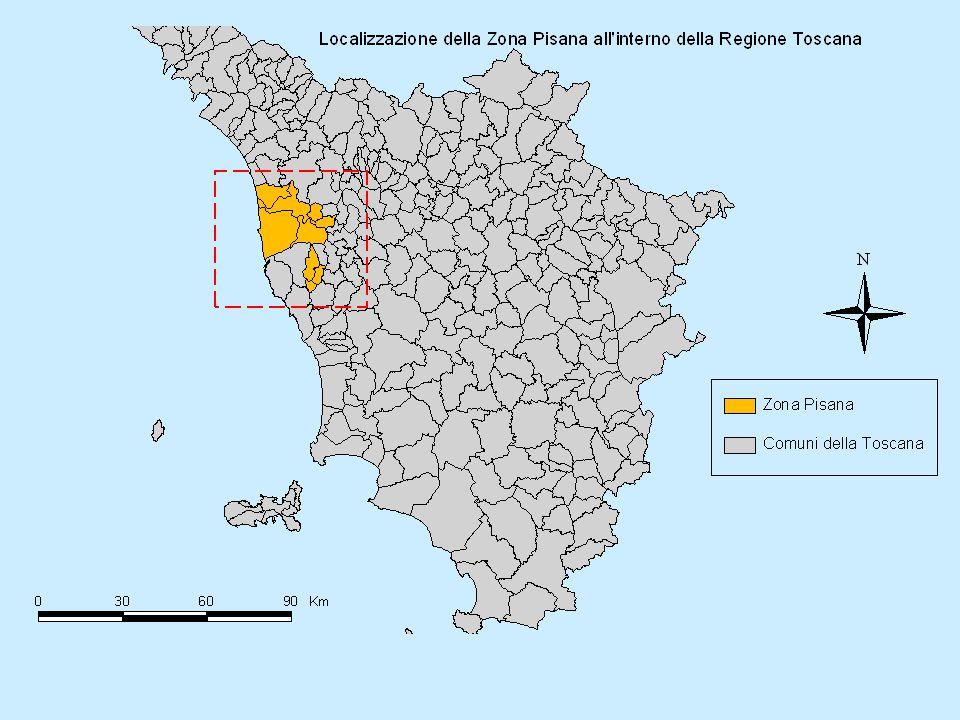 Società della Salute Zona Pisana : Sperimentazione di Consorzio tra 9 Comuni e l'Azienda sanitaria locale USl5 di Pisa Servizi Sociali gestiti in forma associata con delega al gestore unico - Azienda USl5 residenti al 31/12/2006: 191.128 Popolazione anziana: 43.650 (22,8%) Non autosufficienti (stime ARS): 5.411 (2,8%)