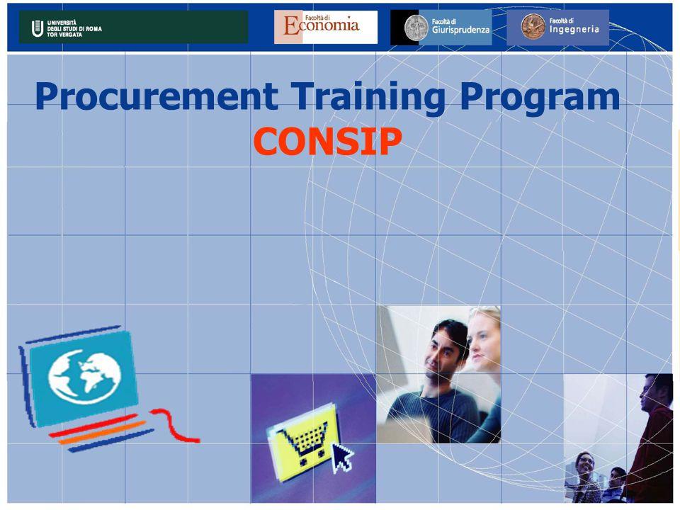 Procurement Training Program CONSIP