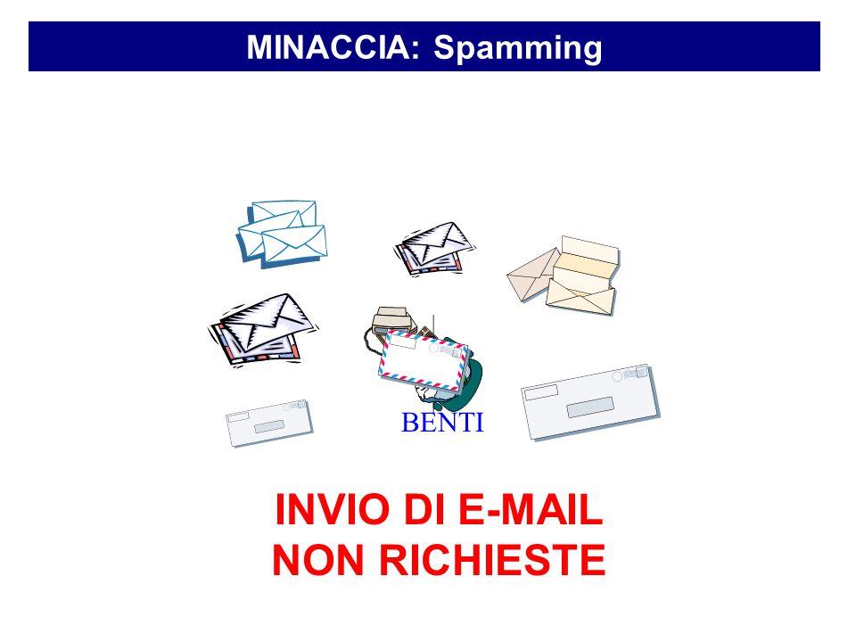 MINACCIA: Spamming INVIO DI E-MAIL NON RICHIESTE BENTI