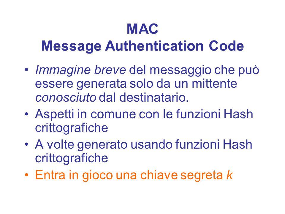 Autenticazione Identificazione: stabilire l'identità di un utente.