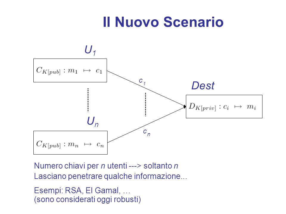 Funzioni One-way con trapdoor p,q numeri primi: - è facile calcolare n=pq - è difficile dato n trovare p e q - se conosciamo p diventa facile (q=n/q)