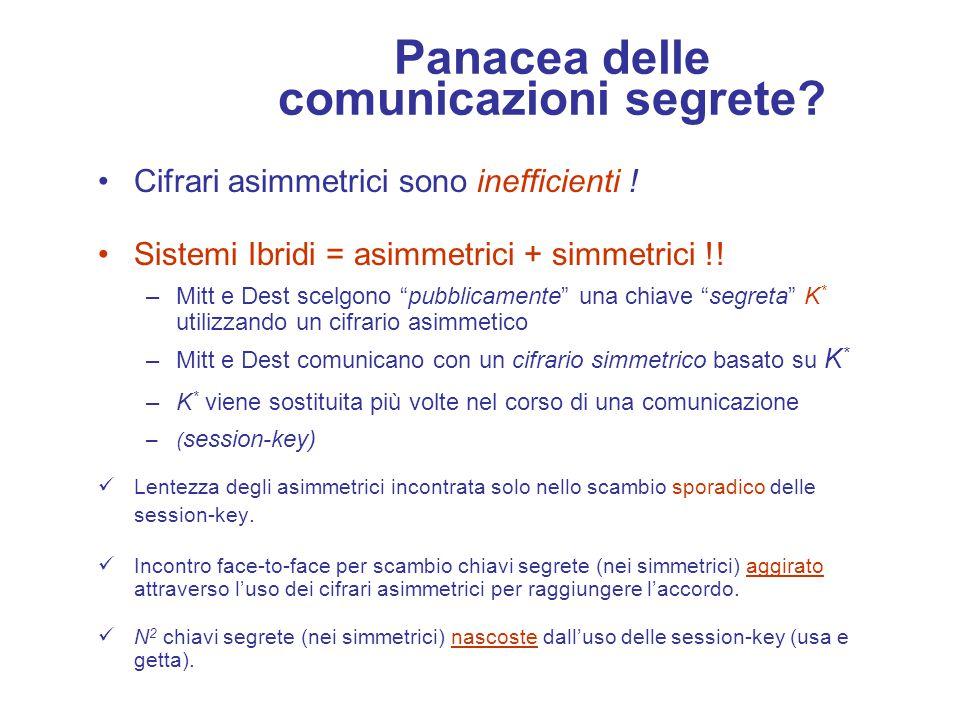 Il Nuovo Scenario U1U1 c c n 1 Numero chiavi per n utenti ---> soltanto n Lasciano penetrare qualche informazione...