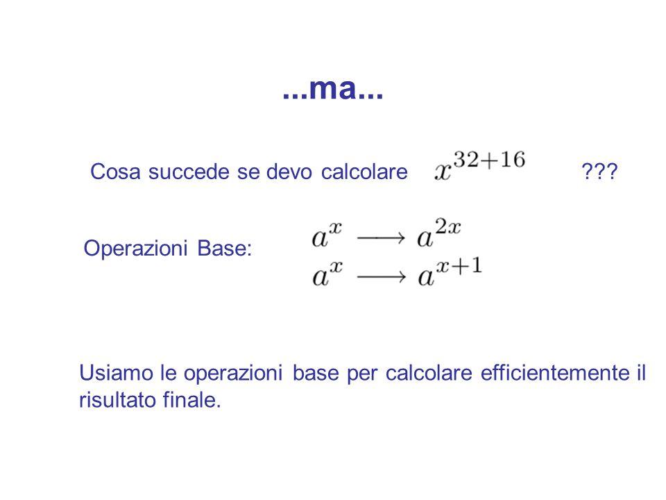 Trucchi computazionali per calcolare Eseguire l'operazione di modulo dopo gni operazione (non basta!)