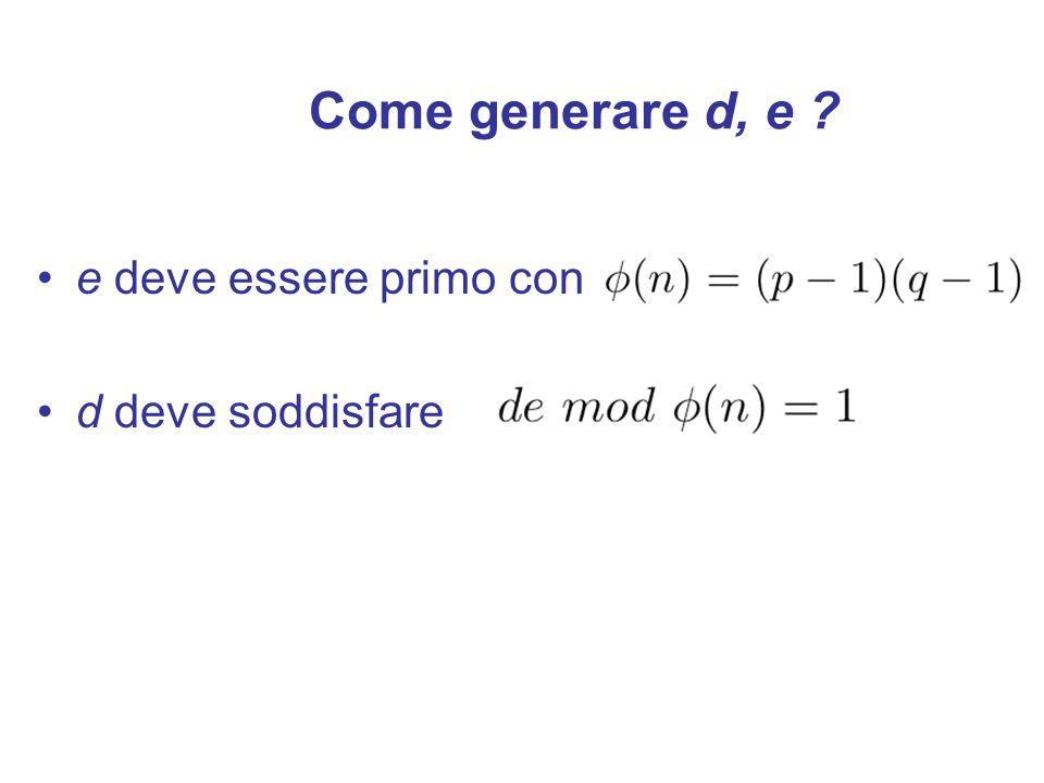 1- Genero n a caso 2- Genero a tra 1 e n a caso 3- Calcolo 4- If x = 1 then Stop: n primo else Stop: n composto Test probabilistico di primalità ESTESO.
