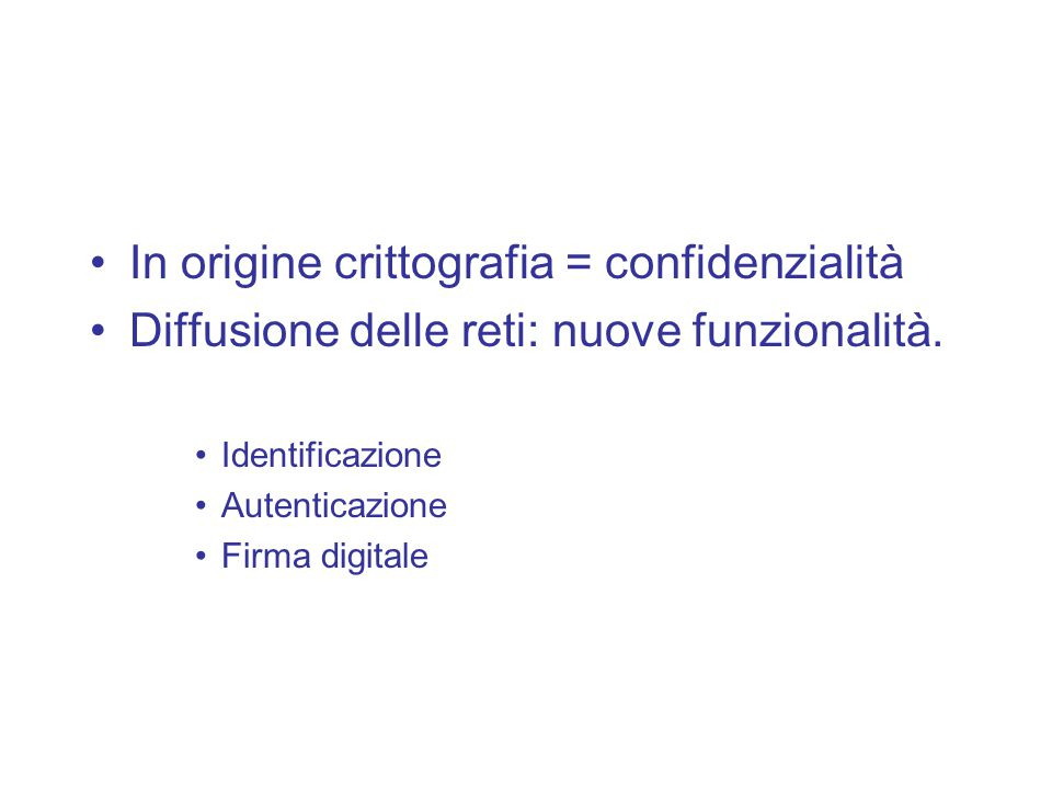 Identificazione, Autenticazione e Firma Digitale