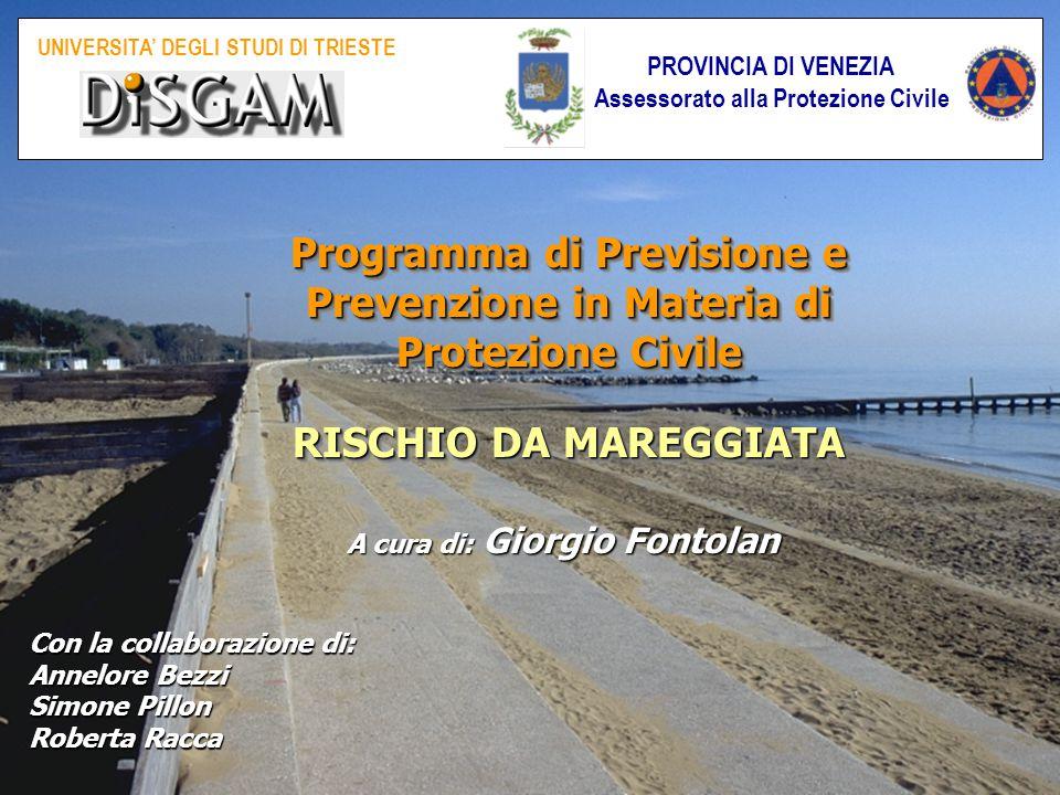 Programma di Previsione e Prevenzione in Materia di Protezione Civile RISCHIO DA MAREGGIATA Programma di Previsione e Prevenzione in Materia di Protez