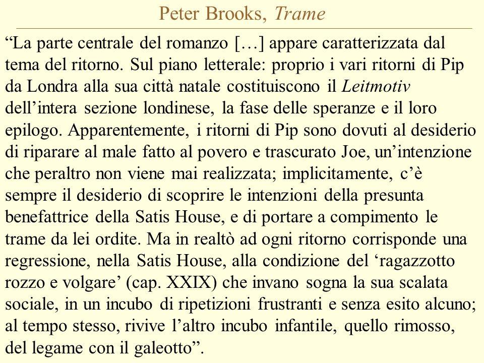 Peter Brooks, Trame La parte centrale del romanzo […] appare caratterizzata dal tema del ritorno.
