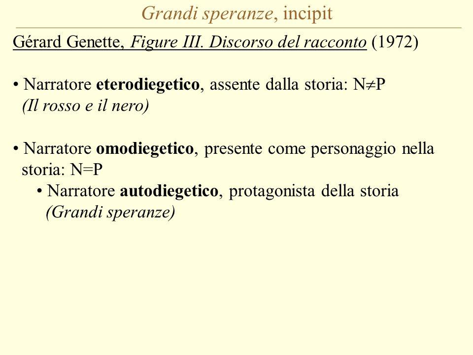 Grandi speranze, incipit Gérard Genette, Figure III.