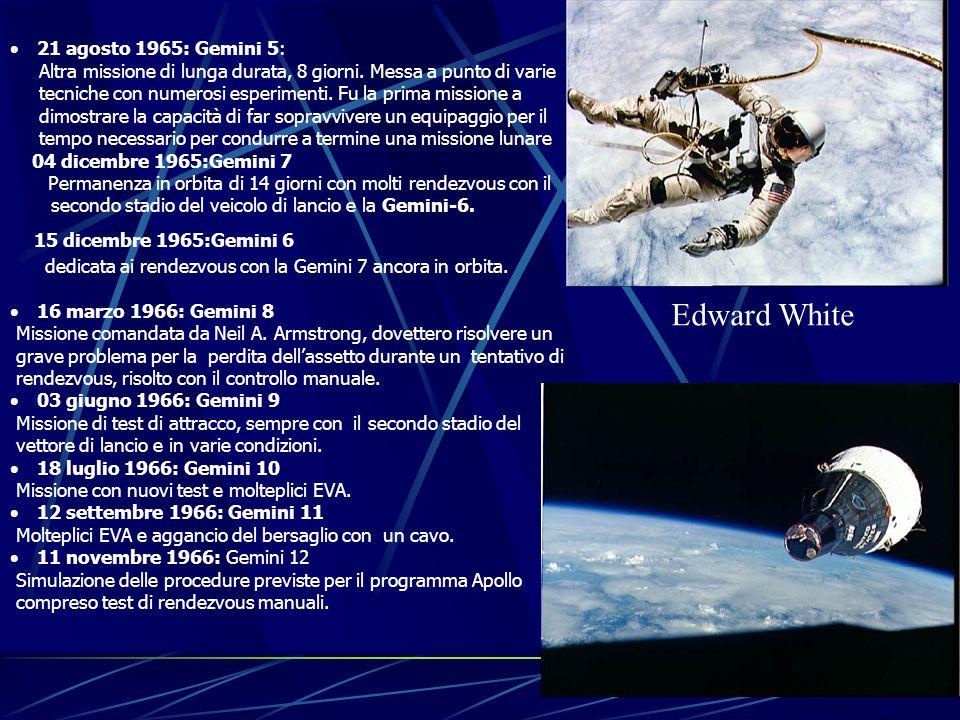  21 agosto 1965: Gemini 5: Altra missione di lunga durata, 8 giorni.