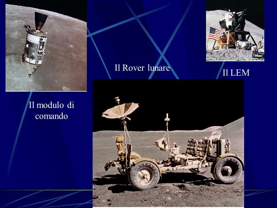 Il modulo di comando Il LEM Il Rover lunare
