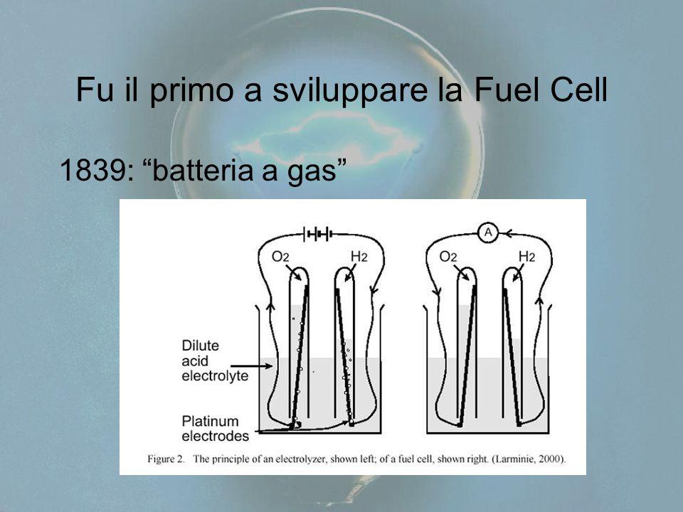 Fu il primo a sviluppare la Fuel Cell 1839: batteria a gas