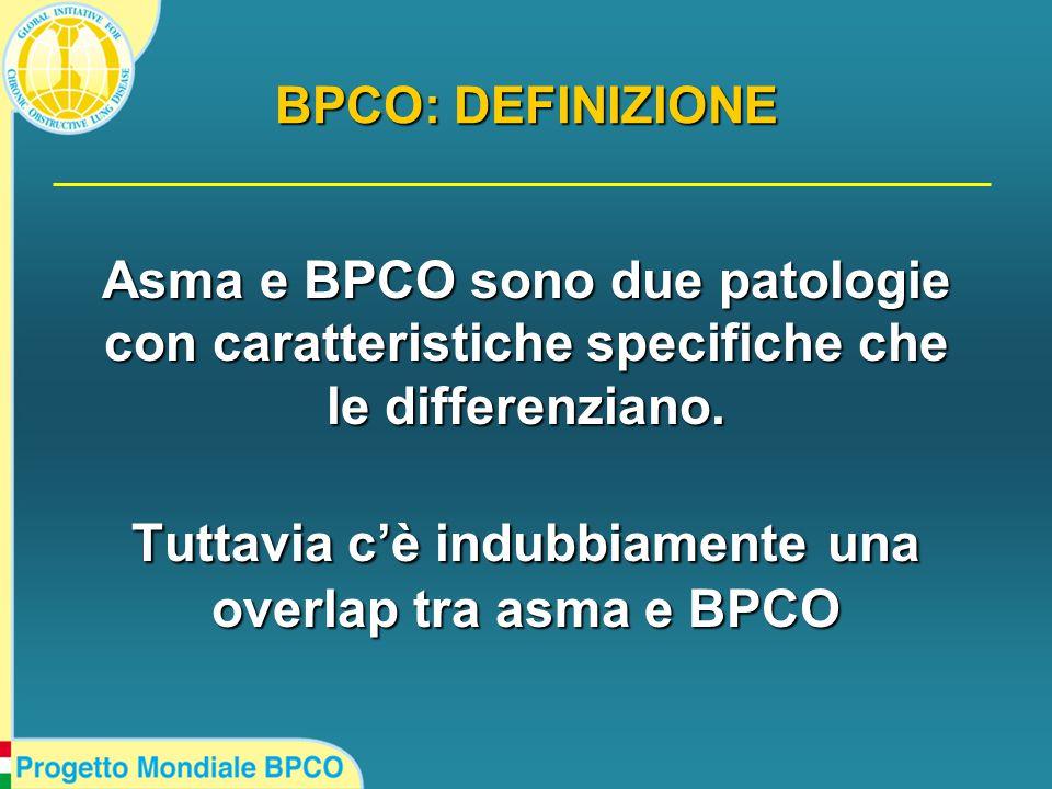Asma e BPCO sono due patologie con caratteristiche specifiche che le differenziano.
