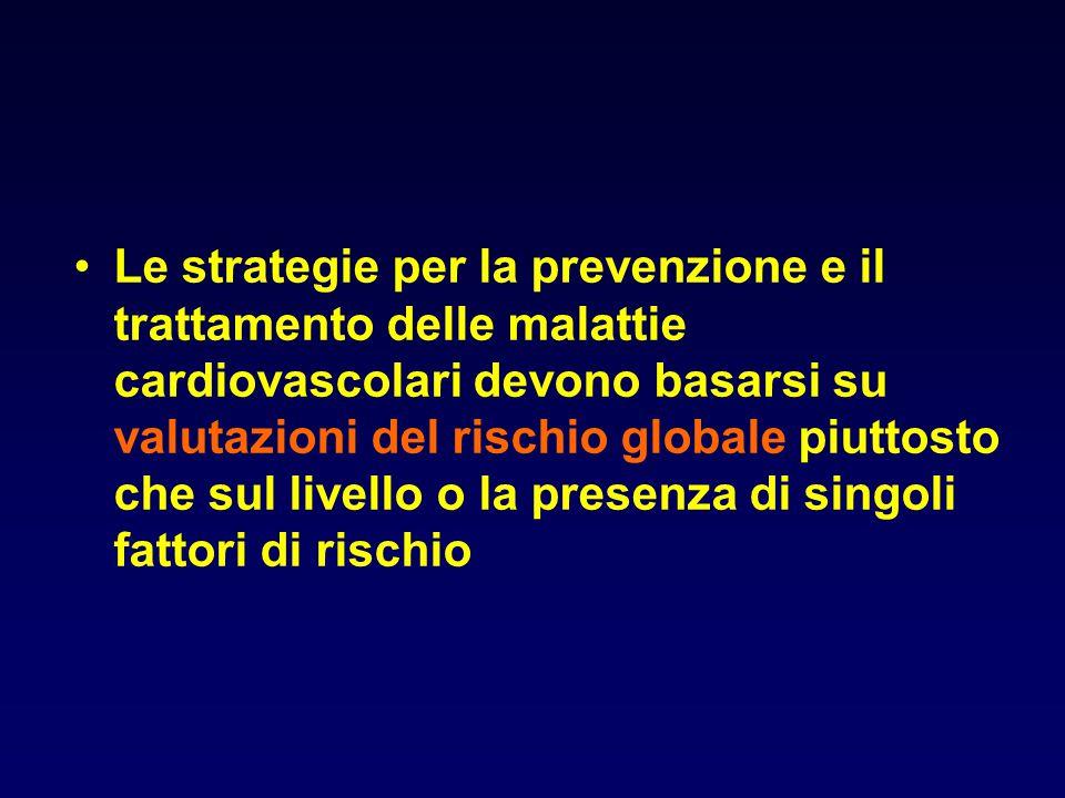 Le strategie per la prevenzione e il trattamento delle malattie cardiovascolari devono basarsi su valutazioni del rischio globale piuttosto che sul li