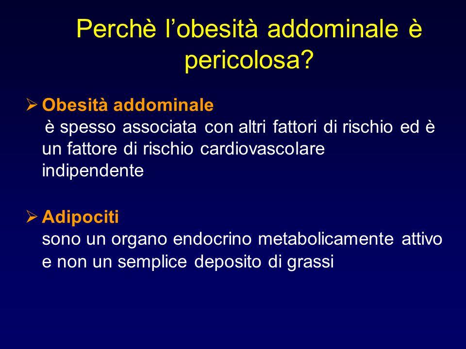Perchè l'obesità addominale è pericolosa?  Obesità addominale è spesso associata con altri fattori di rischio ed è un fattore di rischio cardiovascol
