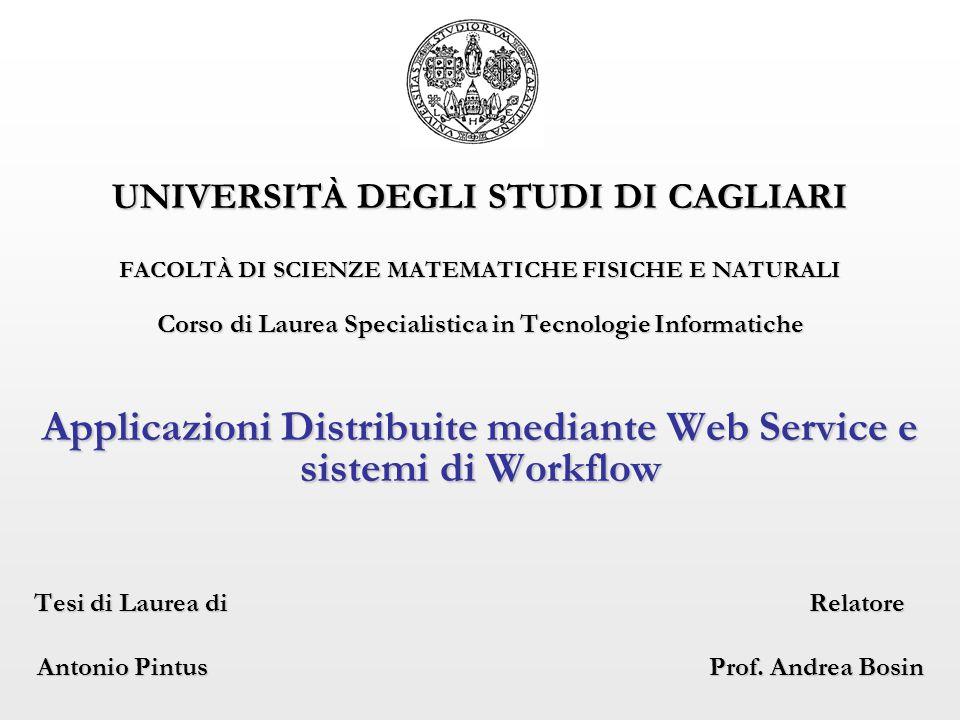 22/09/2006 Antonio Pintus 32 Un possibile scenario applicativo (1) Utilizzando SOA, Web service, WfMS, possiamo ritenere fattibile un reale scenario per la conduzione di esperimenti scientifici in maniera distribuita e collaborativa.