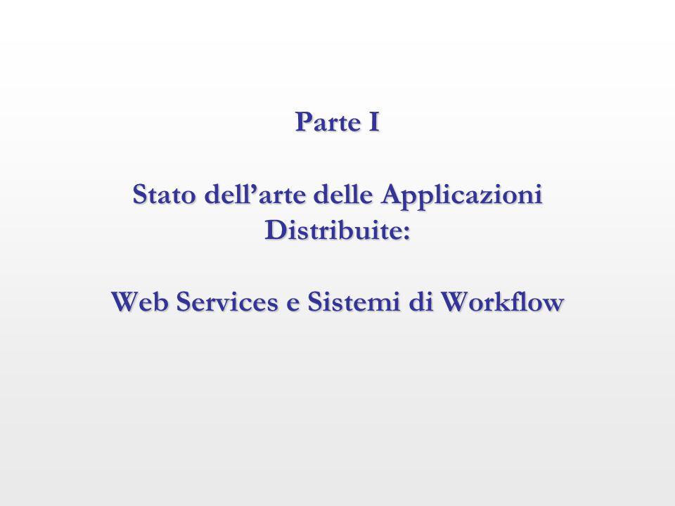 Parte I Stato dell'arte delle Applicazioni Distribuite: Web Services e Sistemi di Workflow