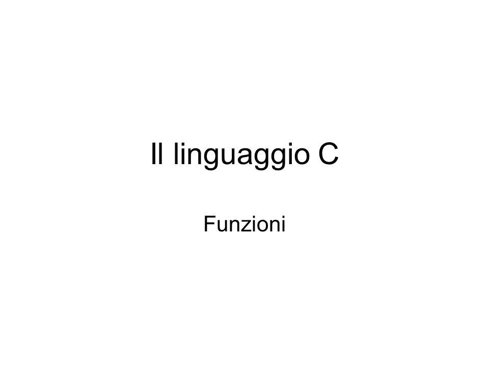 Il linguaggio C Funzioni