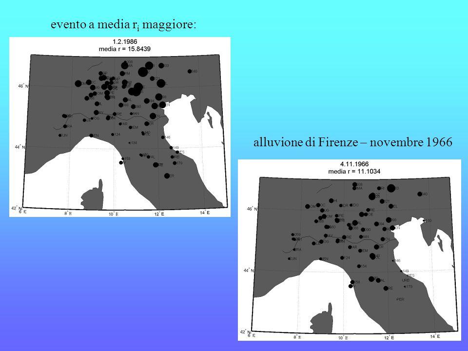 evento a media r i maggiore: alluvione di Firenze – novembre 1966