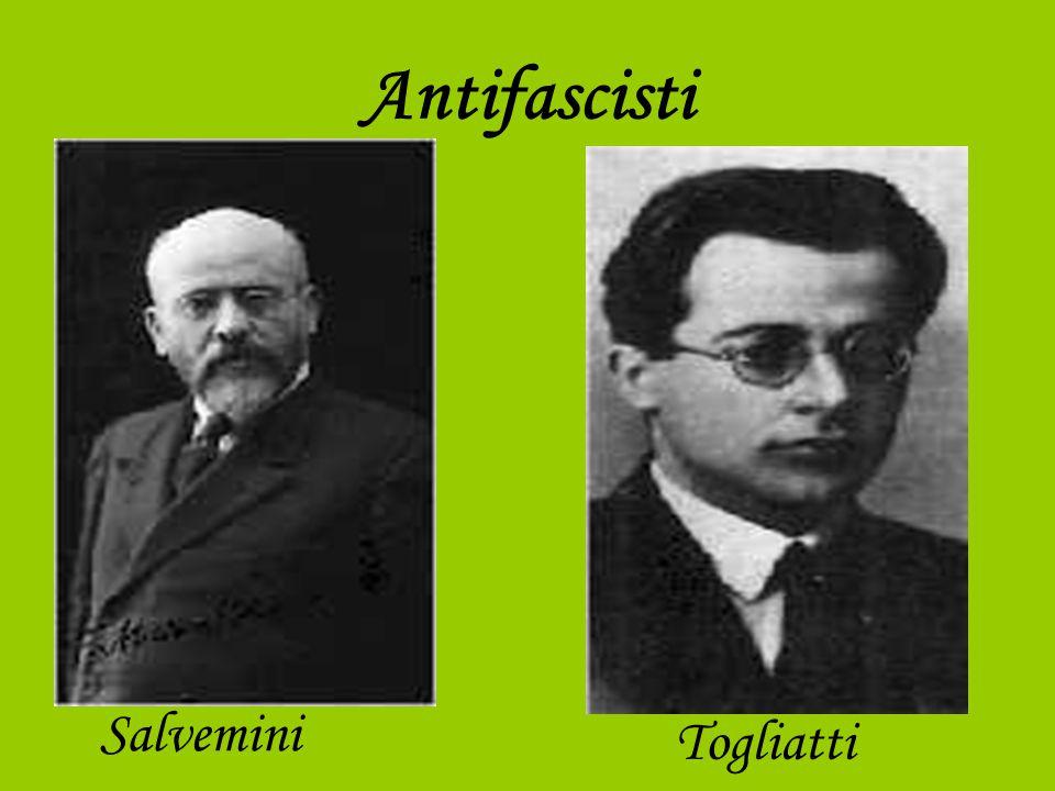 Antifascisti Salvemini Togliatti