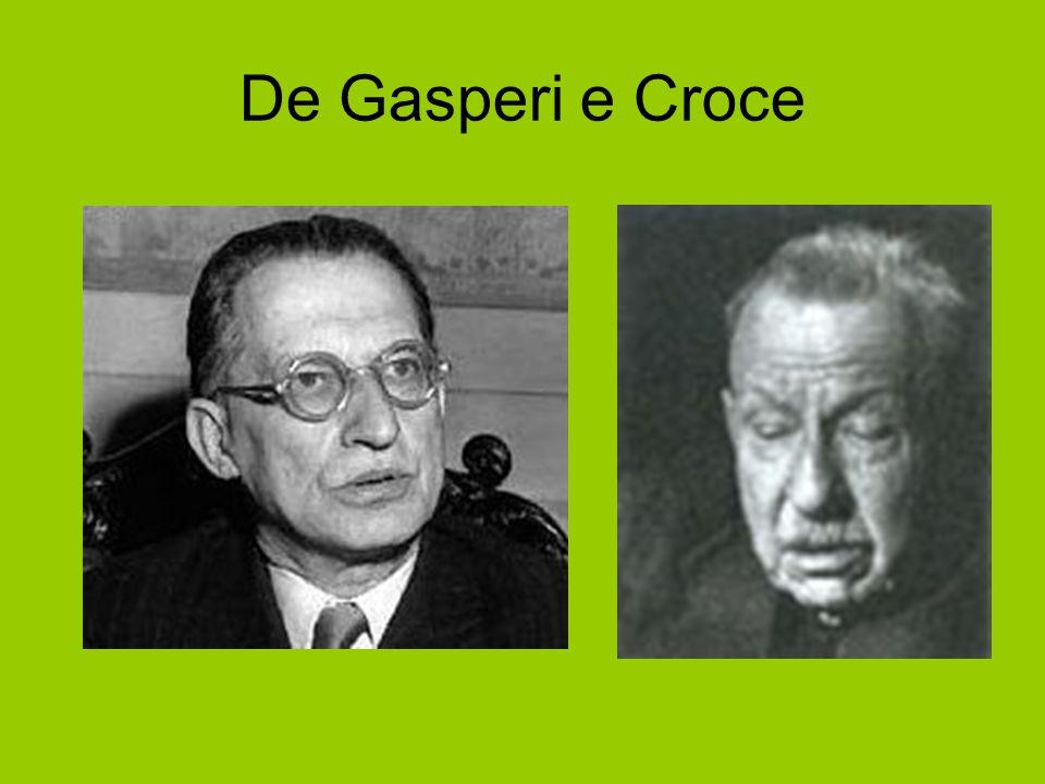 De Gasperi e Croce