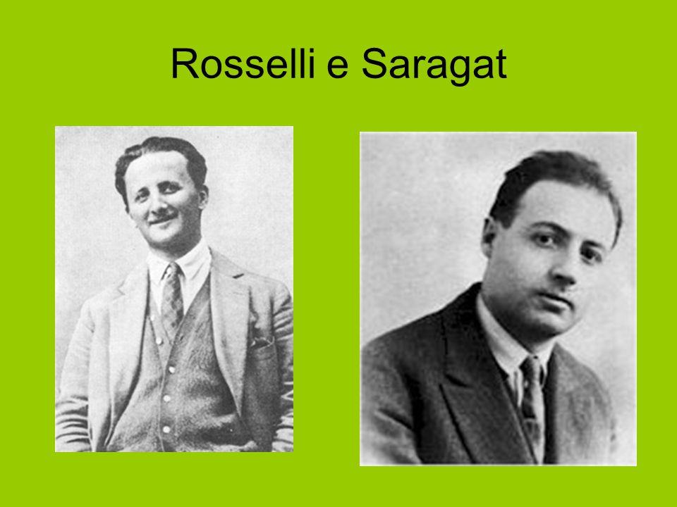 Rosselli e Saragat Rosselli Saragat