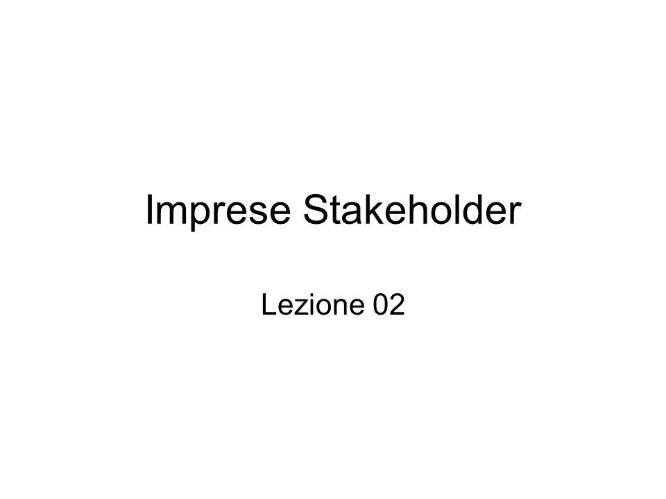Imprese Stakeholder Lezione 02