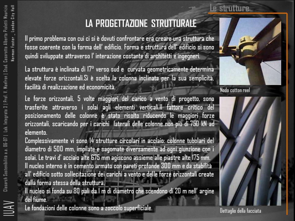 Il primo problema con cui ci si è dovuti confrontare era creare una struttura che fosse coerente con la forma dell' edificio. Forma e struttura dell'