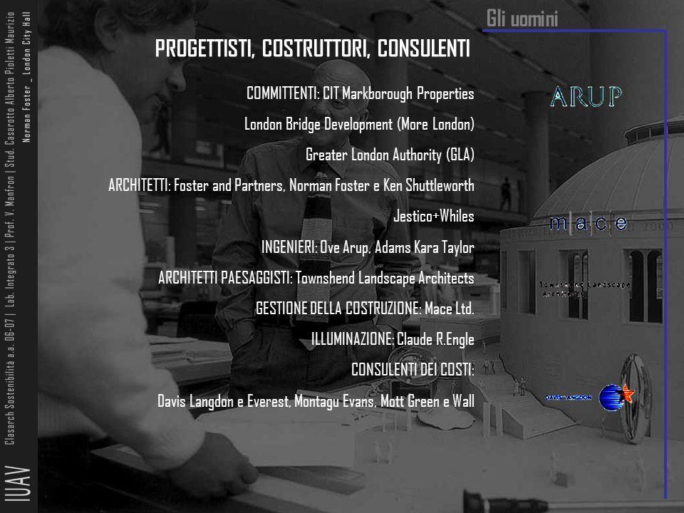 PROGETTISTI, COSTRUTTORI, CONSULENTI COMMITTENTI: CIT Markborough Properties London Bridge Development (More London) Greater London Authority (GLA) AR