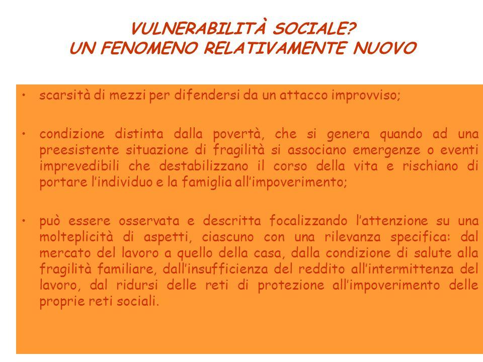 VULNERABILITÀ SOCIALE.