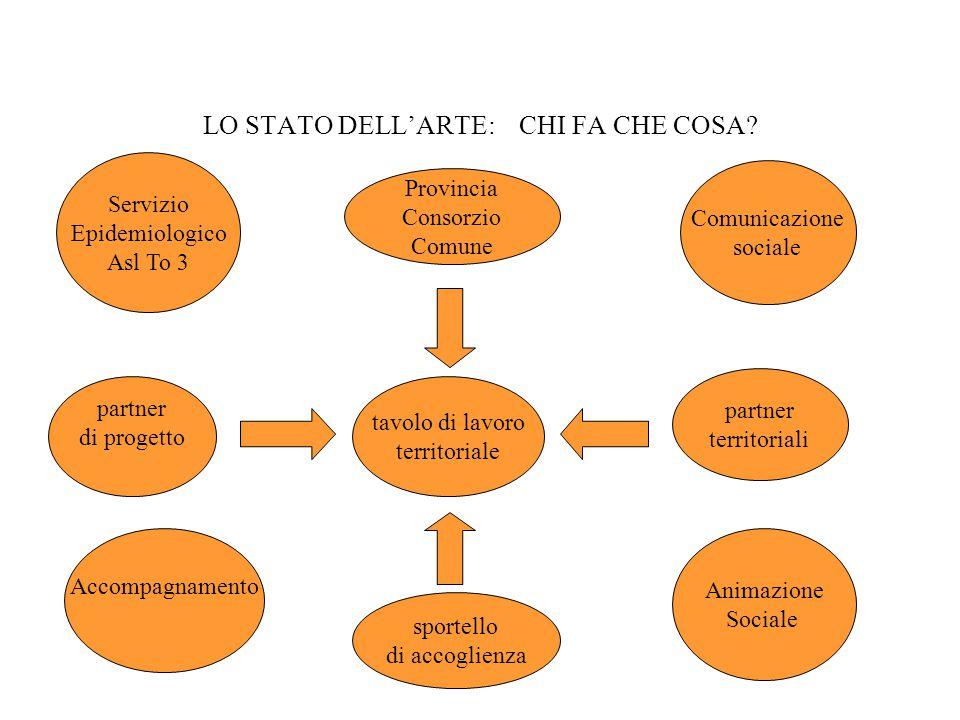 LO STATO DELL'ARTE: CHI FA CHE COSA.