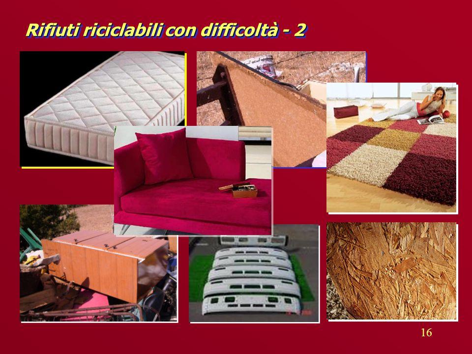 16 Rifiuti riciclabili con difficoltà - 2