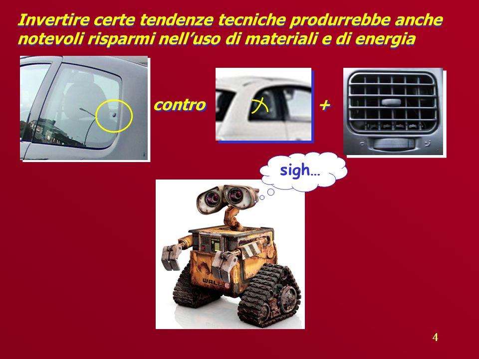 44 Invertire certe tendenze tecniche produrrebbe anche notevoli risparmi nell'uso di materiali e di energia + + contro sigh…