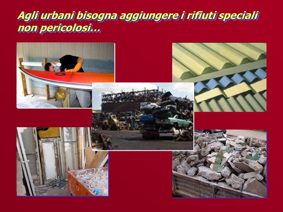 Agli urbani bisogna aggiungere i rifiuti speciali non pericolosi…