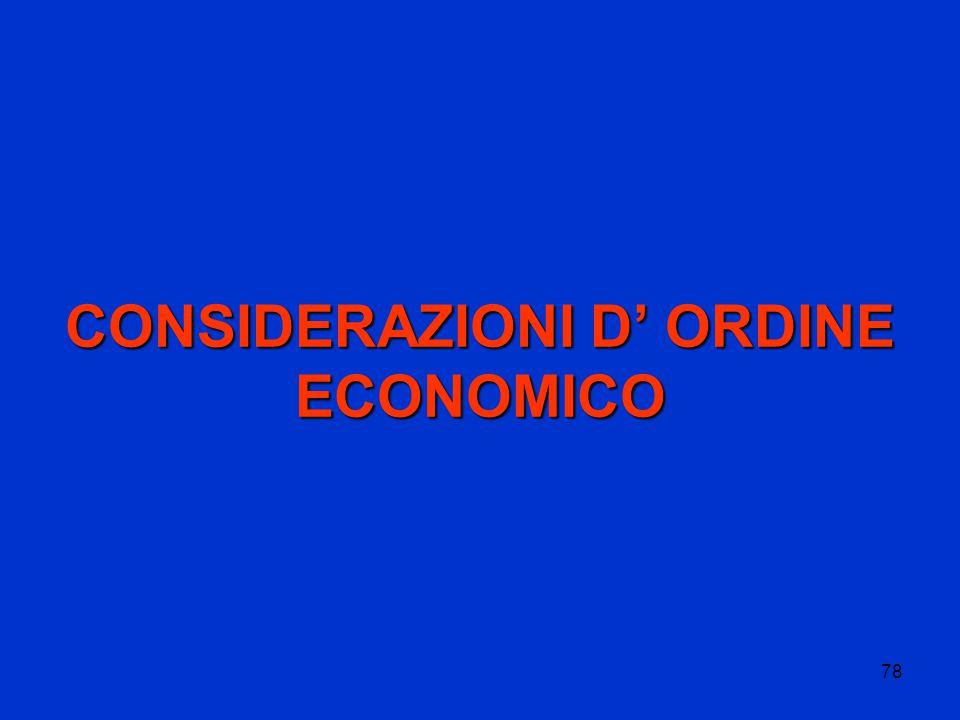 78 CONSIDERAZIONI D' ORDINE ECONOMICO