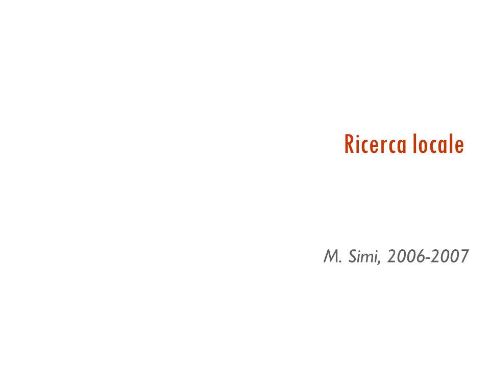 Ricerca locale M. Simi, 2006-2007