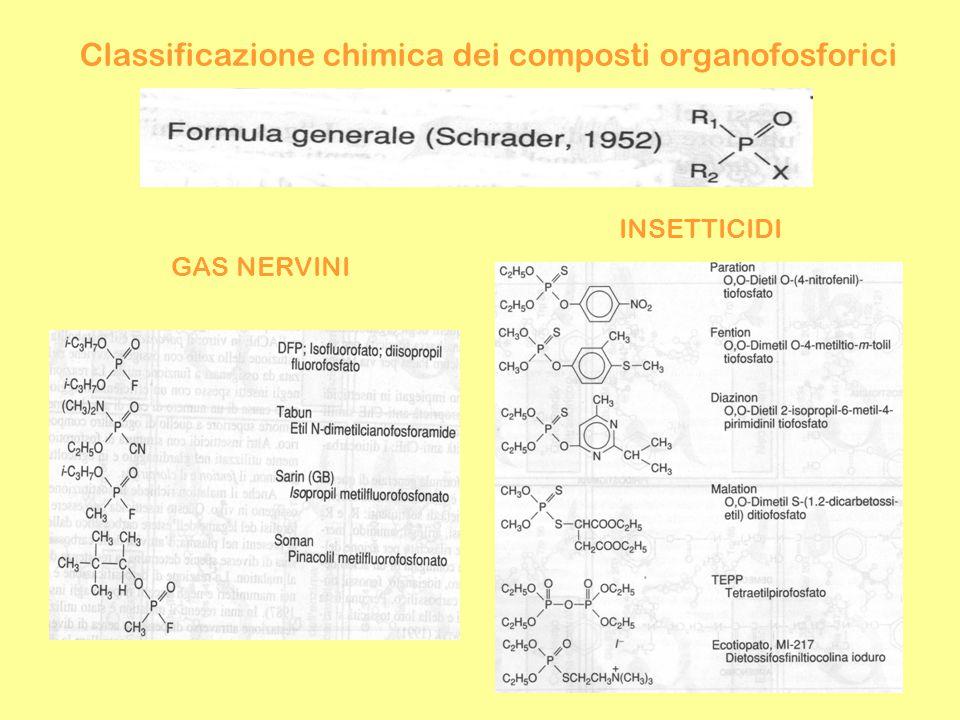Classificazione chimica dei composti organofosforici GAS NERVINI INSETTICIDI