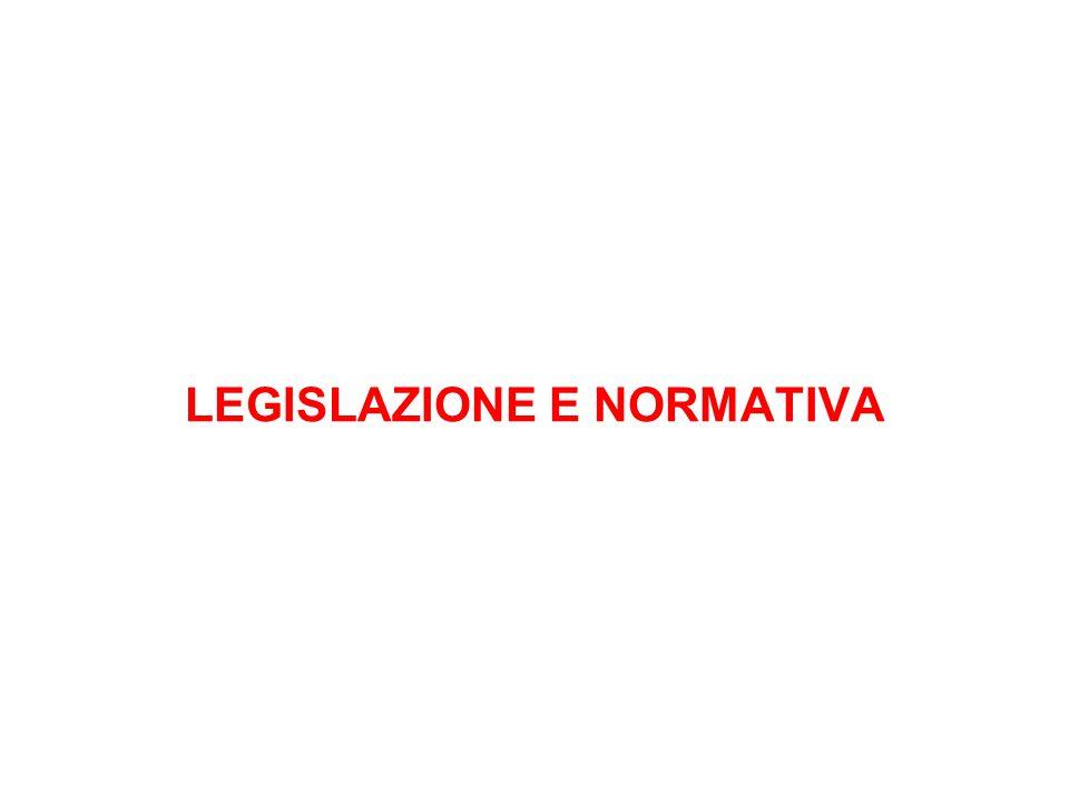 LEGISLAZIONE E NORMATIVA