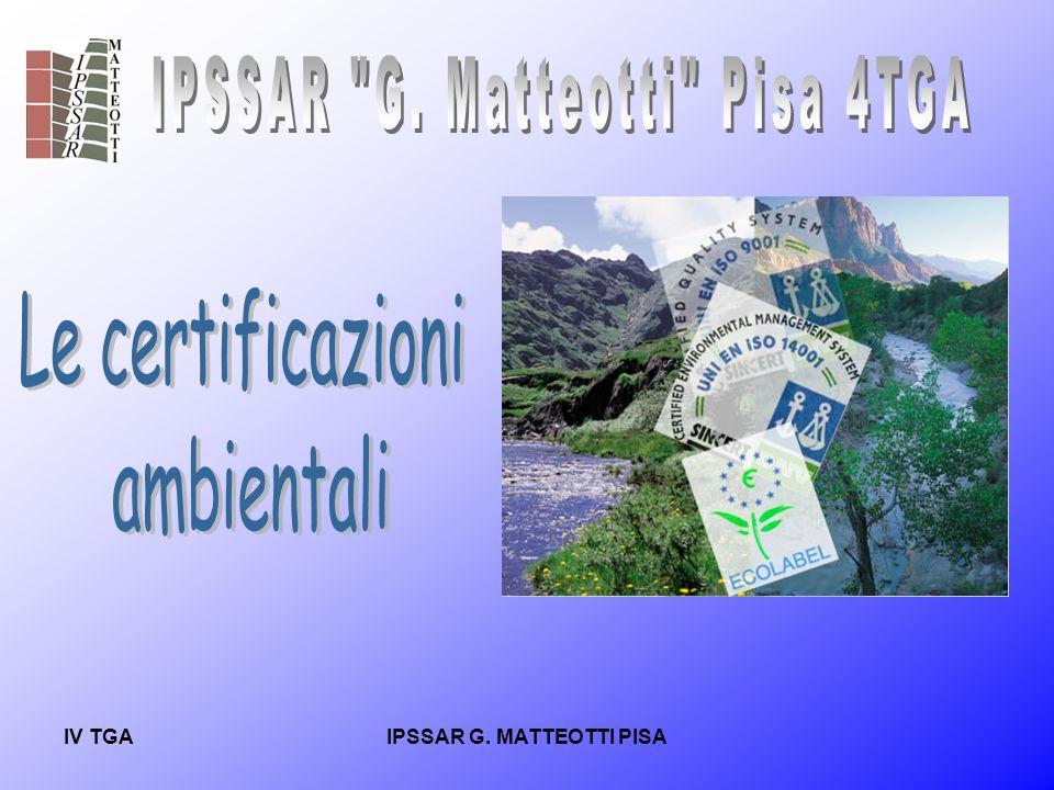 IV TGAIPSSAR G.MATTEOTTI PISA REQUISITI DI UN SISTEMA DI GESTIONE AMBIENTALE.