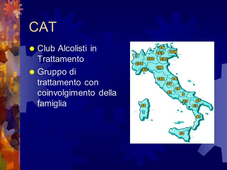 CAT  Club Alcolisti in Trattamento  Gruppo di trattamento con coinvolgimento della famiglia