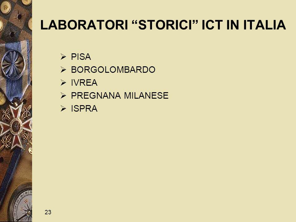 23 LABORATORI STORICI ICT IN ITALIA  PISA  BORGOLOMBARDO  IVREA  PREGNANA MILANESE  ISPRA