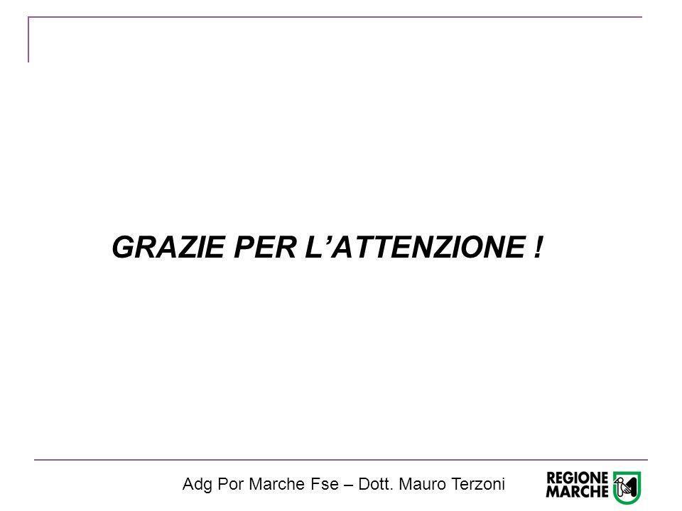 GRAZIE PER L'ATTENZIONE ! Adg Por Marche Fse – Dott. Mauro Terzoni