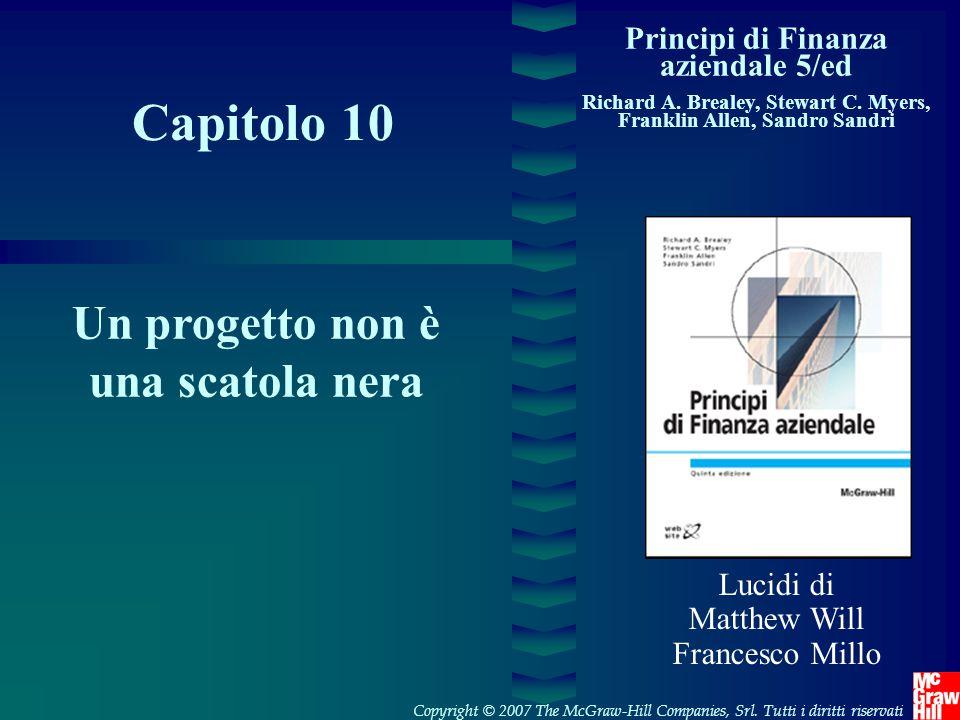1- 22 Copyright © 2007 The McGraw-Hill Companies, SrlPrincipi di Finanza aziendale 5/ed – Brealey, Myers, Allen,Sandri Alberi delle decisioni 960 (0,8) 220(0, 2) 930(0, 4) 140(0, 6) 800(0, 8) 100(0, 2) 410(0, 8) 180( 0, 2) 220( 0, 4) 100( 0, 6) +150(0,6) +30(0,4) +100(0,6) +50(0,4) -550 VAN = .