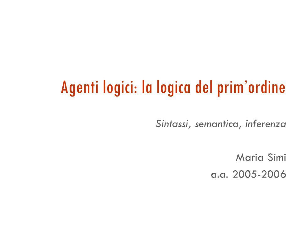 Il linguaggio: precedenza tra gli operatori Precedenza tra gli operatori logici: = >  >  >  > ,  > ,  Es.