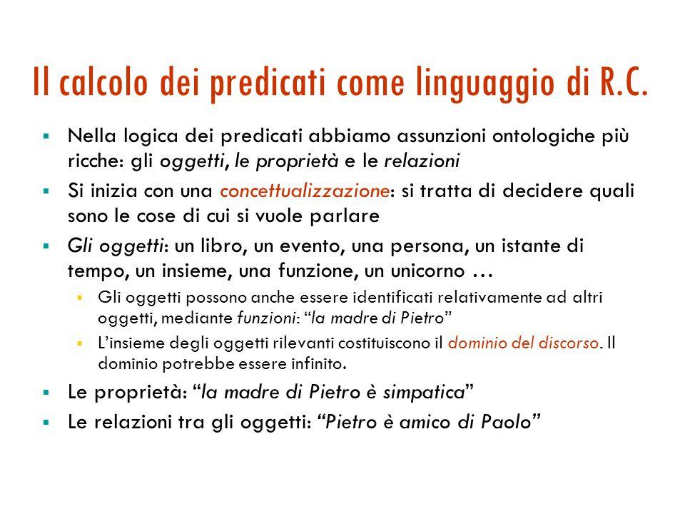 Agenti logici: la logica del prim'ordine Sintassi, semantica, inferenza Maria Simi a.a. 2005-2006