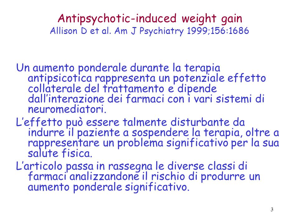 4 Weight gain and antidepressants Fava M.